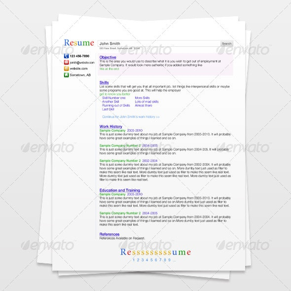 Search Engine Resume - Resumes Stationery