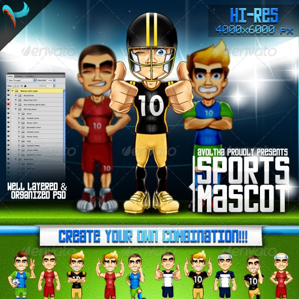 Animatable Sports Mascot Character Kit