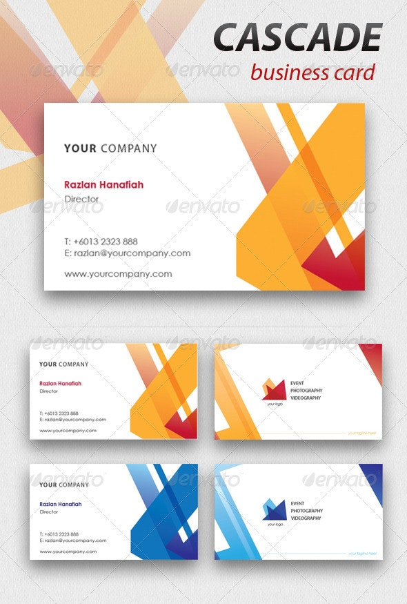 Cascade Business Card - Corporate Business Cards