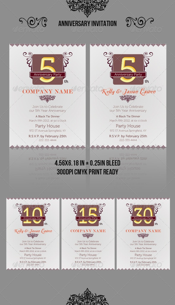 Anniversary Invitation Template_vol.02 - Anniversary Greeting Cards