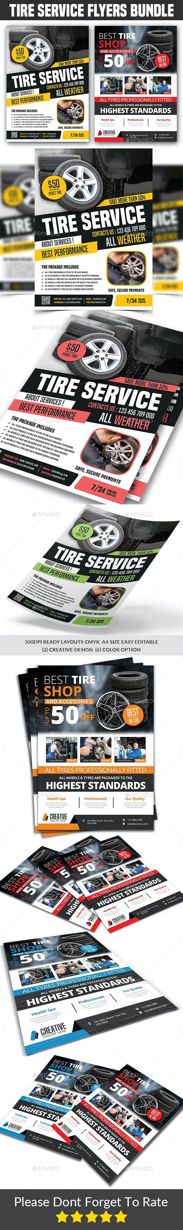 Tires Services Flyers Bundle