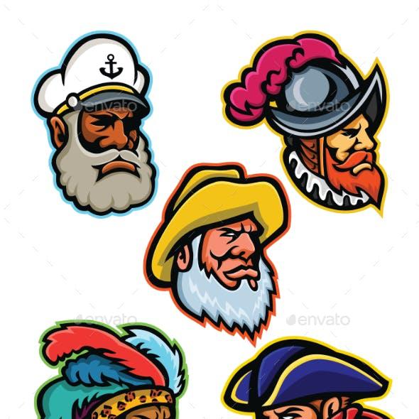 Explorers, Captains and Warrior Mascot