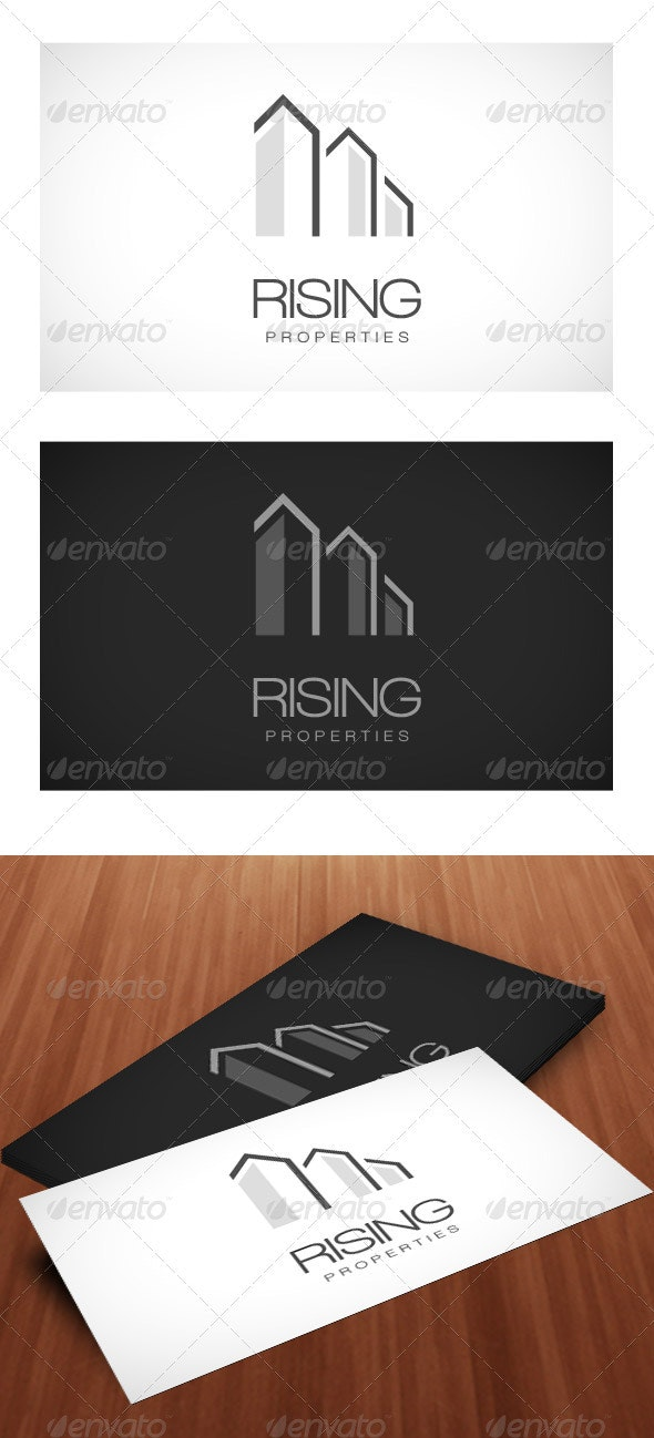 Rising Properties - Logo Template - Buildings Logo Templates