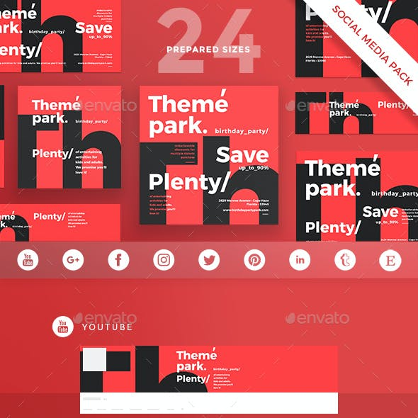Theme Park Social Media Pack