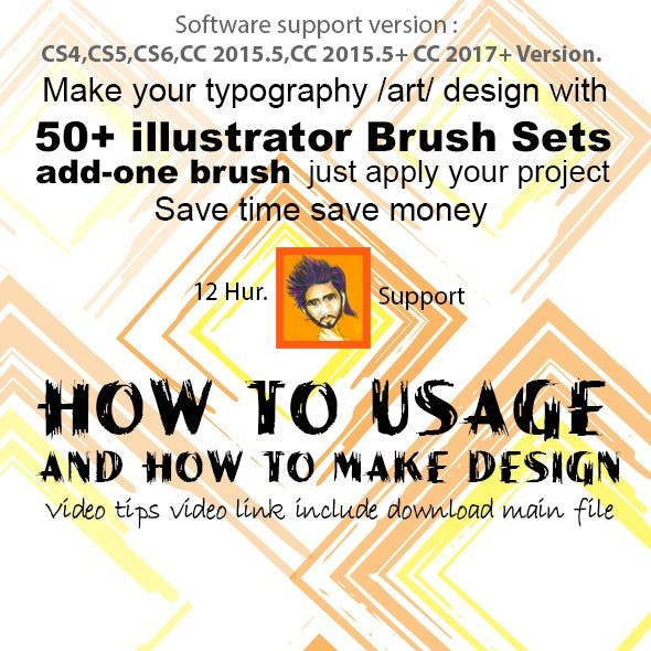 50+ Illustrator Brush Sets