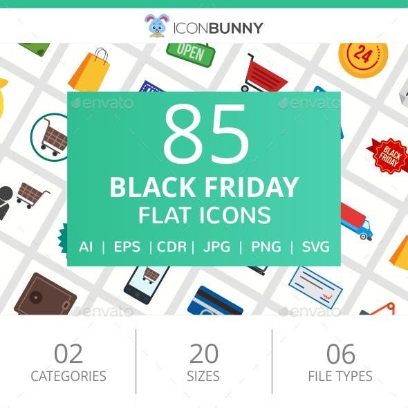 85 Black Friday Flat Icons