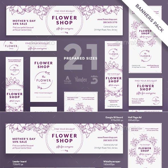 Flower Shop Banner Pack