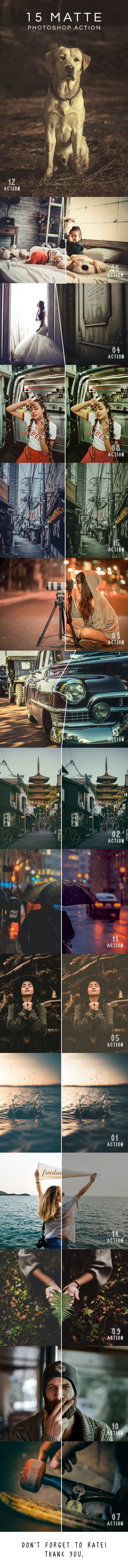 15 Matte Effects Photoshop Actions - Photo Effects Actions