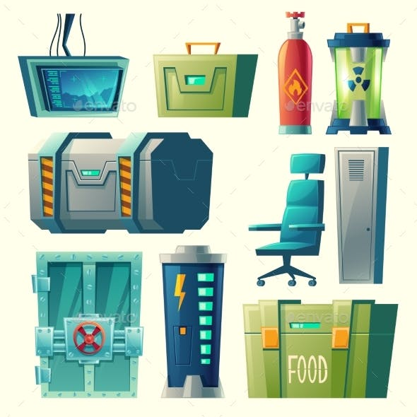 Vector Set for Scientific Laboratory, Game