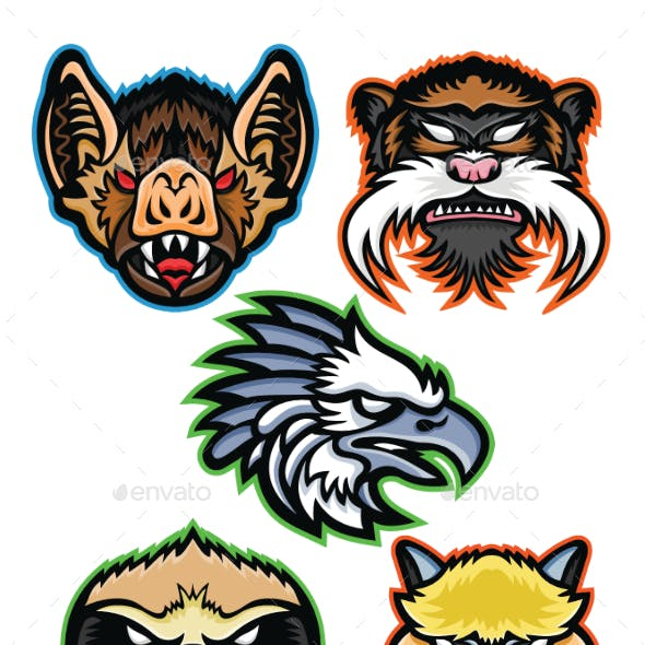 Amazon Wildlife Animals Mascot Collection Series