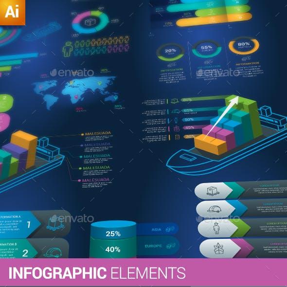 Business & Logistics Infographic