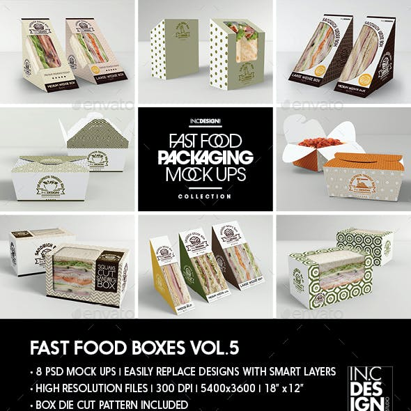 Fast Food Boxes Vol.5:Take Out Packaging Mock Ups