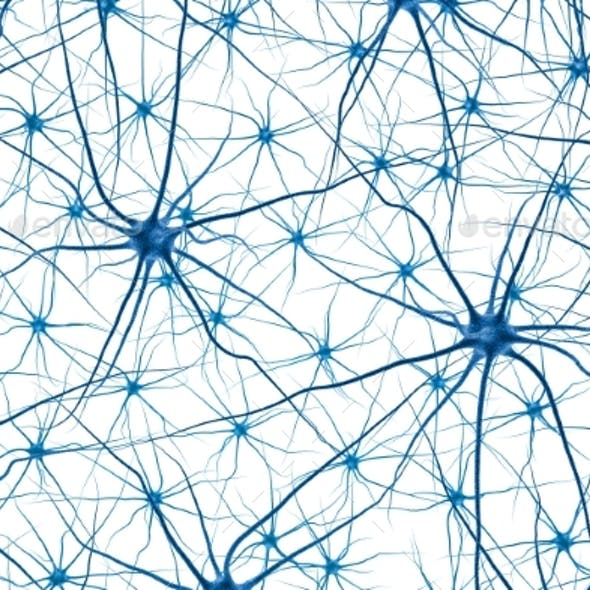 Brain Cell. 3D Render