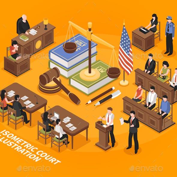 Isometric Court Illustration