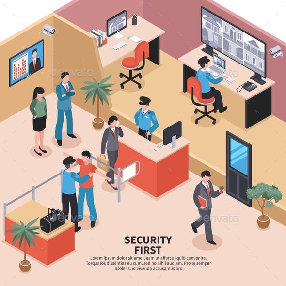 Security In Office Background