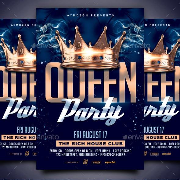 Queen Party Flyer