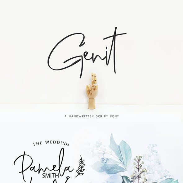 Genit - Classy Handwritten Script Font