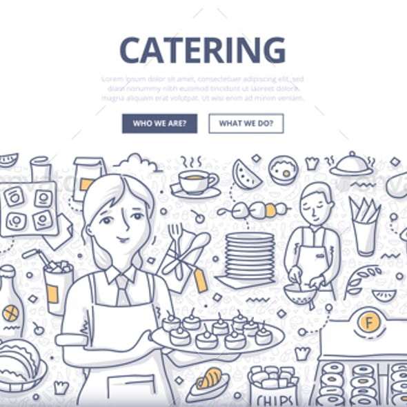 Catering Doodle Concept