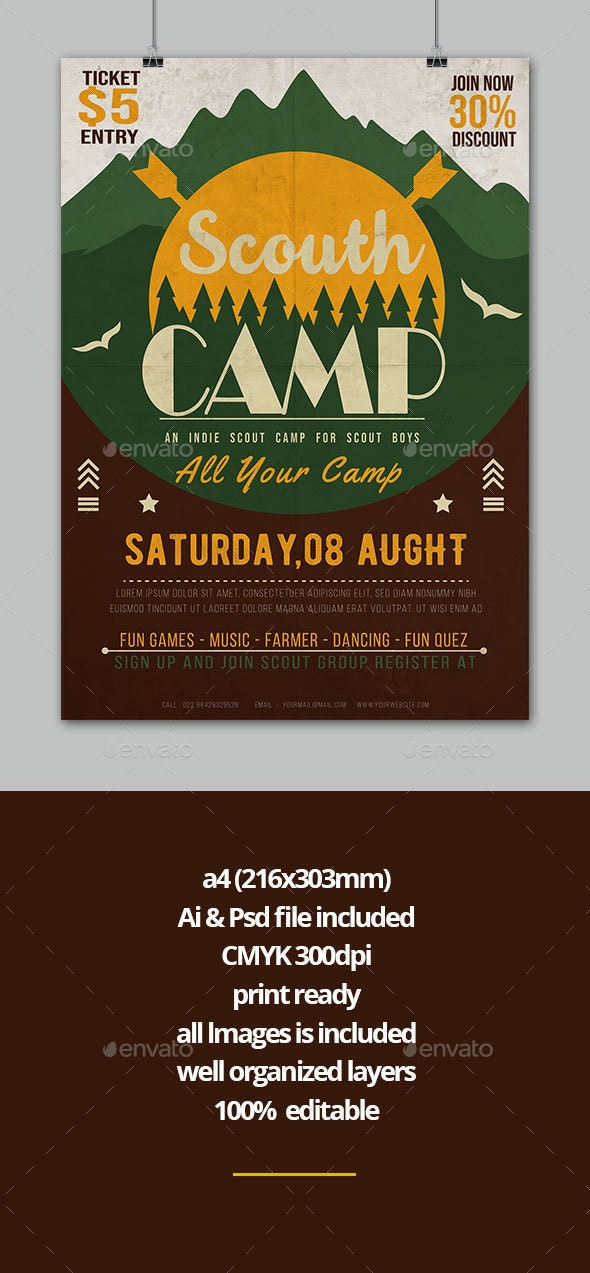Scout Camp - Events Flyers