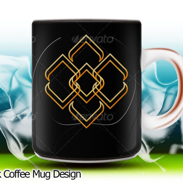 Black Coffee Mug Design