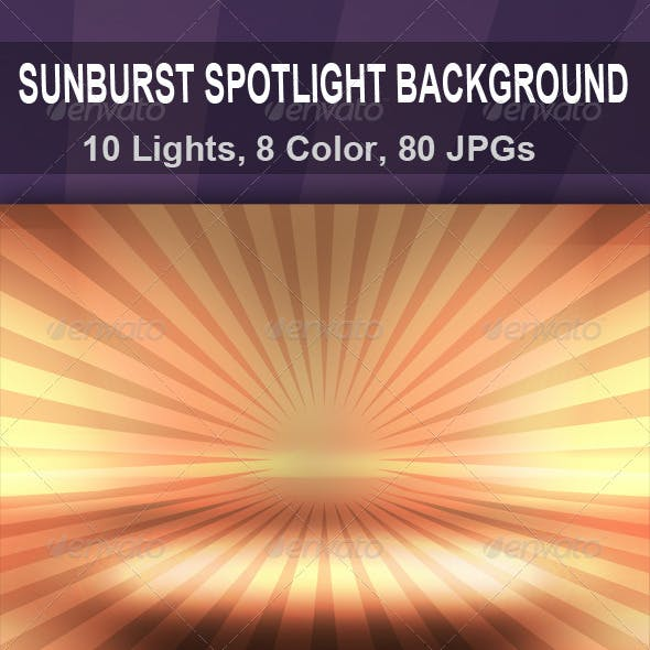 Sunburst Spotlight Background