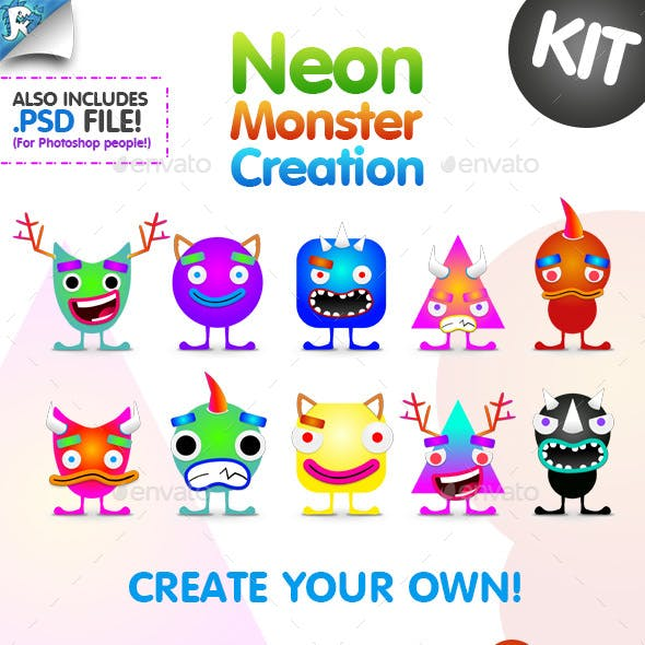 Neon Monster Creation Kit