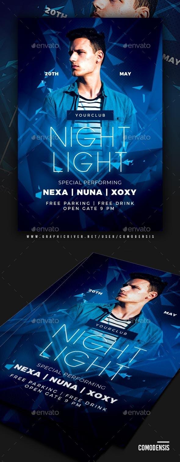 Blue Night Light