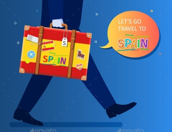 Concept of Travel To Spain or Studying Spanish