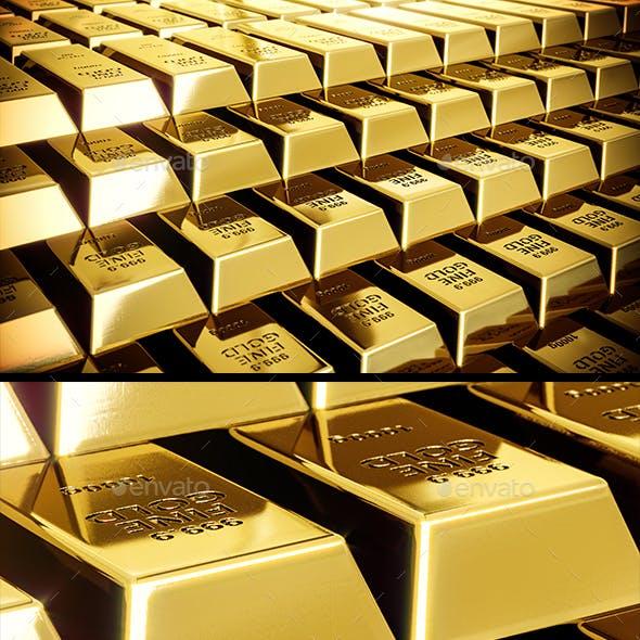 Shining Gold Bars