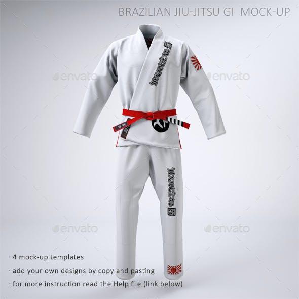 Brazilian Jiu-Jitsu Gi or Martial Arts Uniform Mock-up