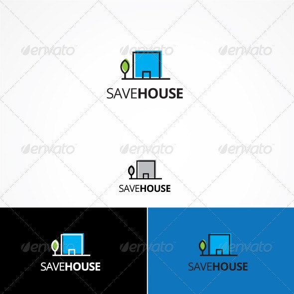 Save House - Buildings Logo Templates