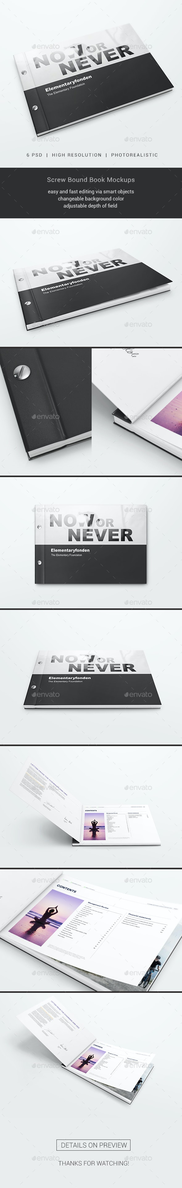 Screw Bound Book Mockups - Books Print