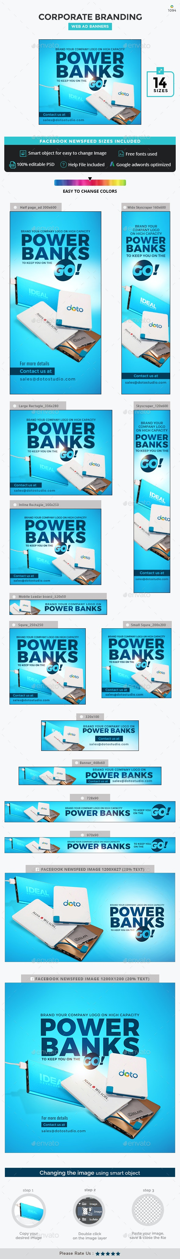 Corporate Branding Banner Set - Banners & Ads Web Elements