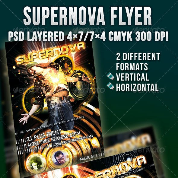 Supernova Flyer Template