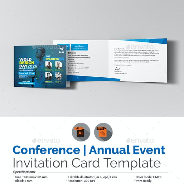 Conference Invitation Card Template