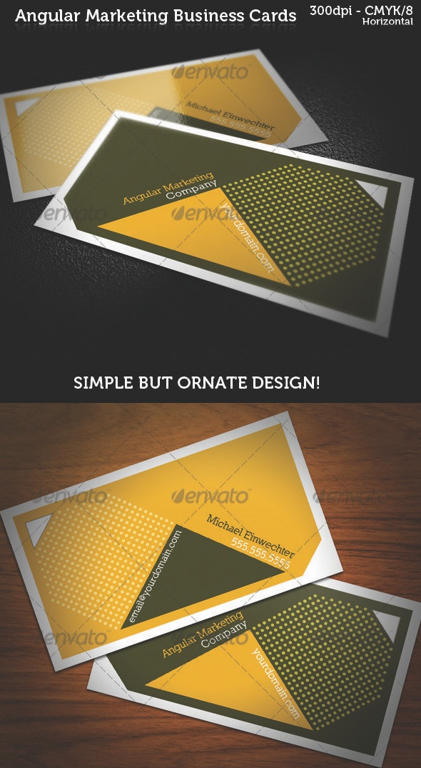 Angular Marketing Business Cards - Creative Business Cards