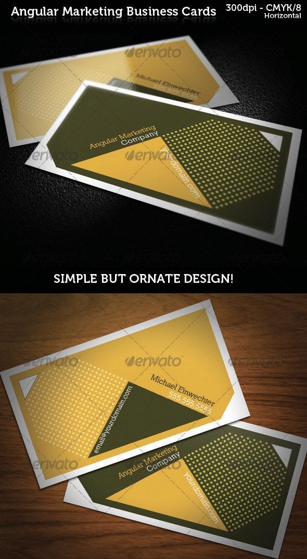 Angular Marketing Business Cards - Creative Business Cards