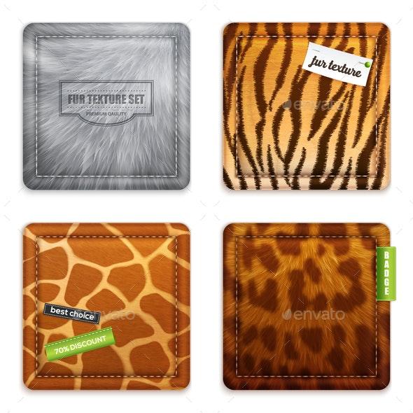 Fur Texture 2x2 Design Concept - Animals Characters