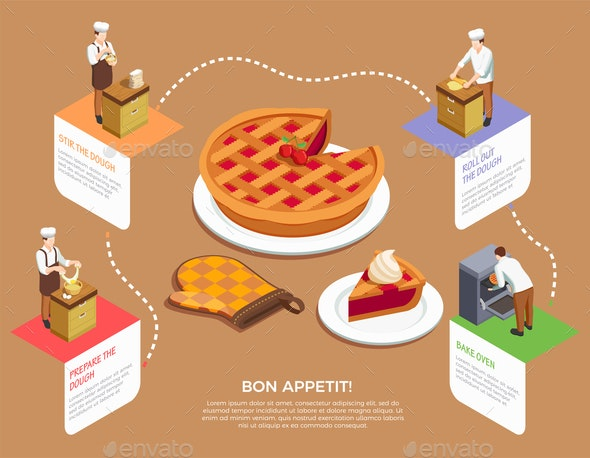 Confectionery Chef Composition - People Characters