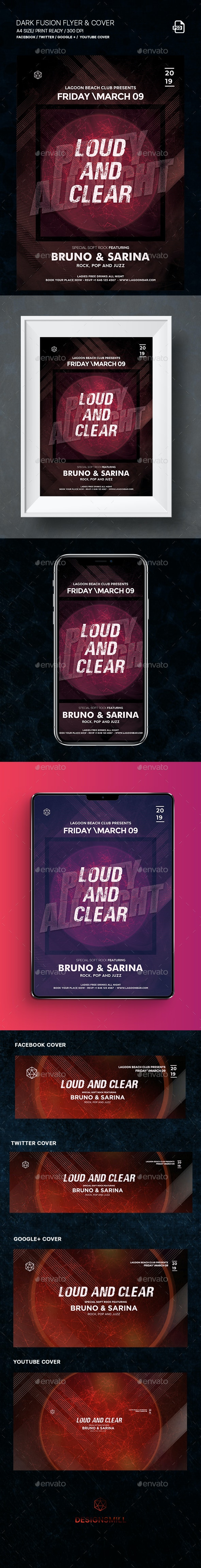 Fusion Flyer and Social Media Covers - Events Flyers