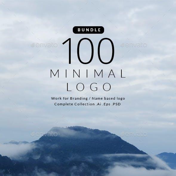Bundle 100 Minimal logo