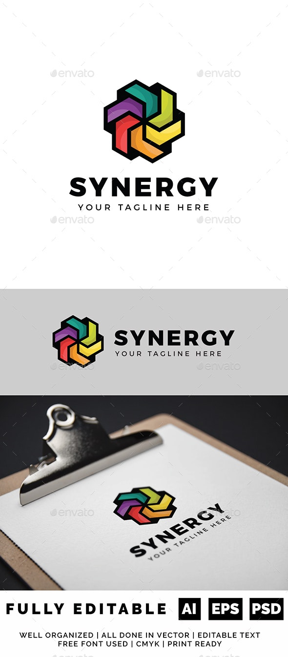 Color Synergy Logo - Objects Logo Templates