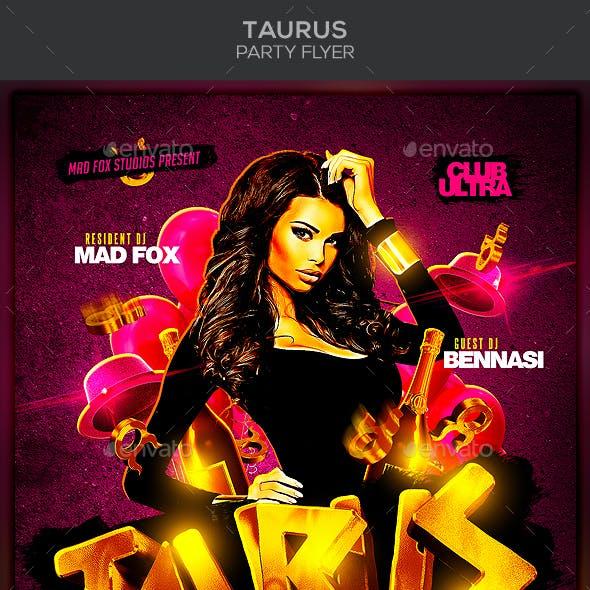 Taurus Party Flyer