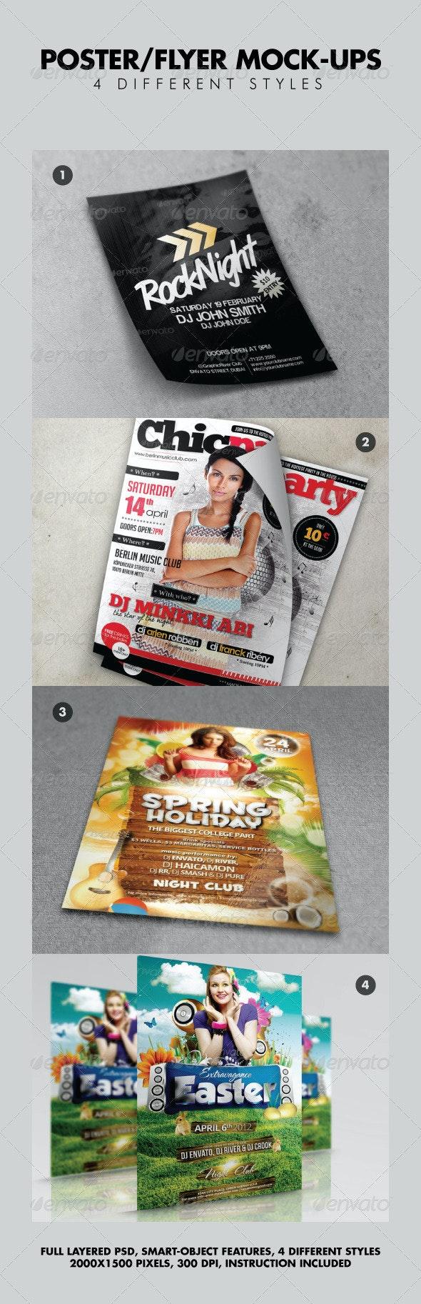Various Poster / Flyer Mock-ups V2 - Flyers Print