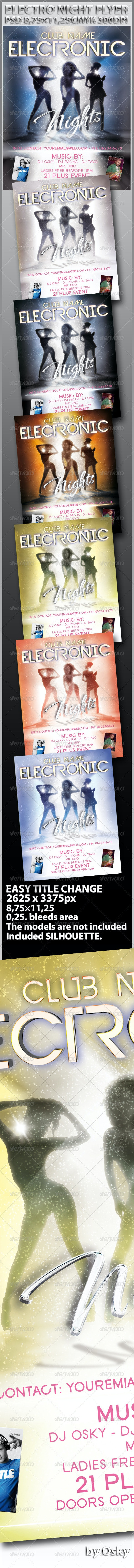 Electronic Nights Flyer - Clubs & Parties Events