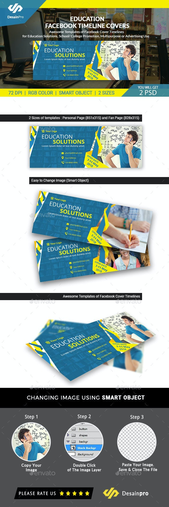 Education Solutions Facebook Timeline Covers - AR - Facebook Timeline Covers Social Media