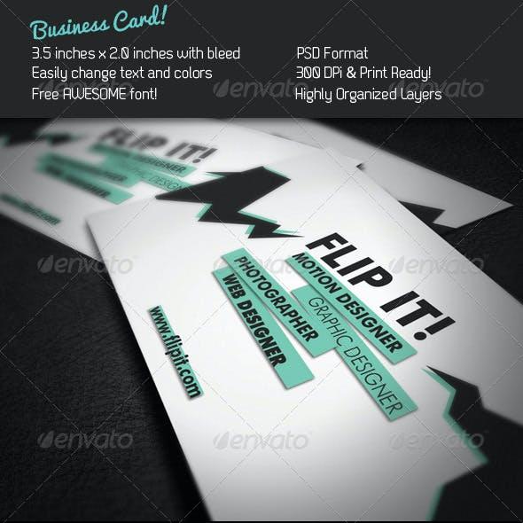 FLIP IT! Business Card