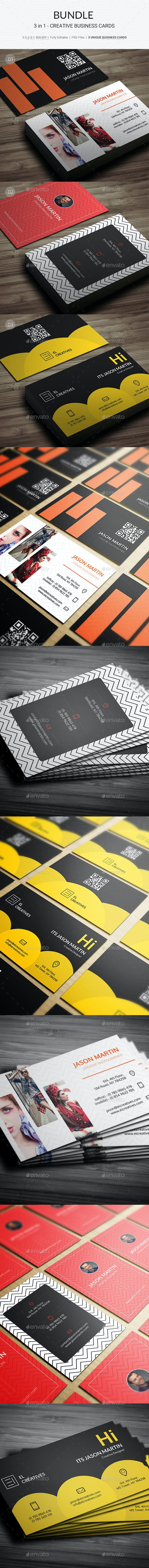Bundle - 3 in 1 - Creative Business Cards - 177 - Creative Business Cards