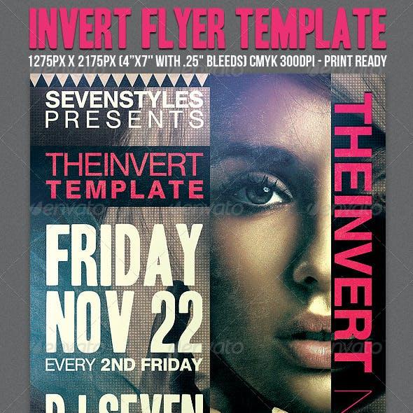 Invert Flyer Template