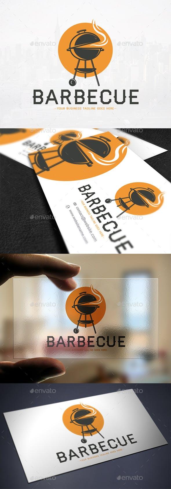 Barbecue Grill Logo Template